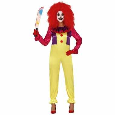 Horror clown freak carnavalskleding voor dames