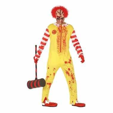 Horror clown ronald carnavalskleding voor heren