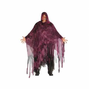 Horror duistere man carnavalskleding paars