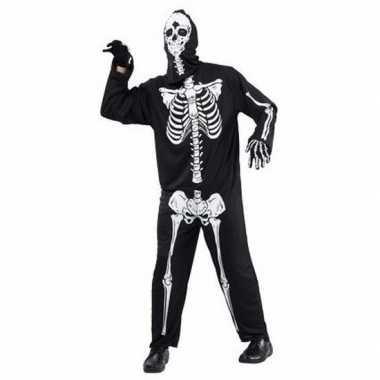 Horror skelet carnavalskleding voor volwassenen