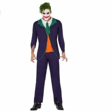 Horrorclown carnavalskleding joker voor heren