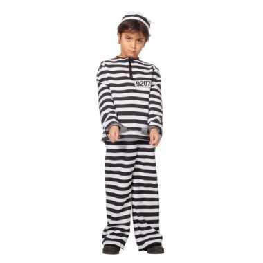 Inbreker carnavalskleding zwart/wit voor kinderen