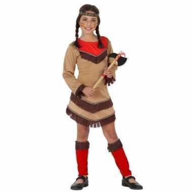 Indiaan chinouk carnavalskleding voor meisjes rood