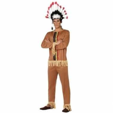 Indianen pallaton pak/carnavalskleding voor heren