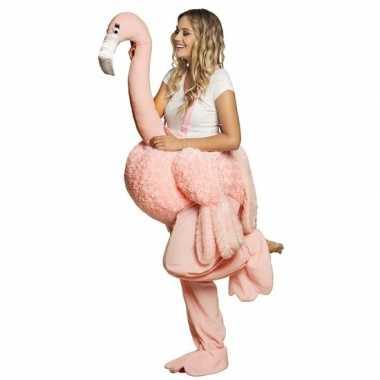 Instap carnavalskleding flamingo voor volwassenen