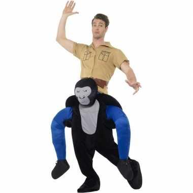 Instap dierenpak carnavalskleding gorilla voor volwassenen
