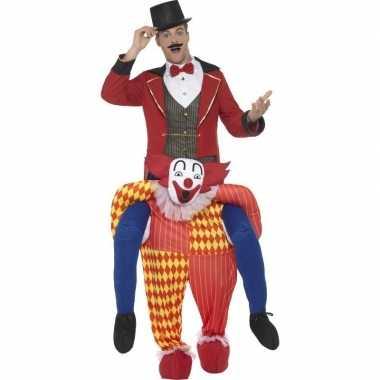 Instapcarnavalskleding circus clown voor volwassenen