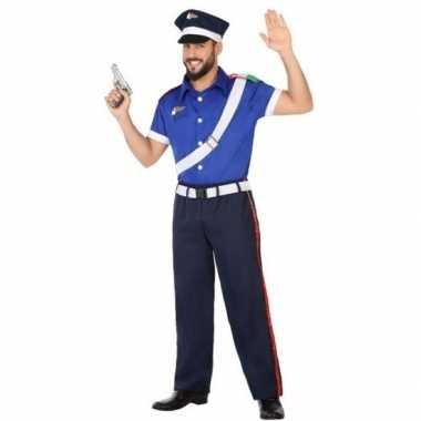Italiaanse politie pak/carnavalskleding voor volwassenen