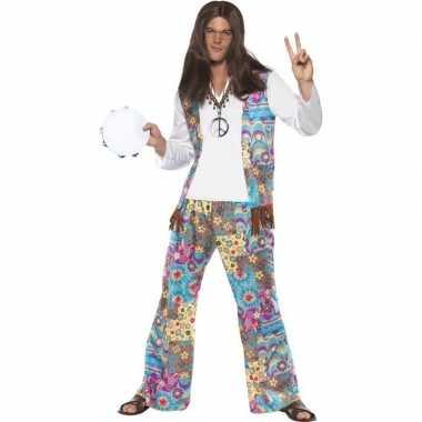 Jaren 60 hippie carnavalskleding groovy voor heren