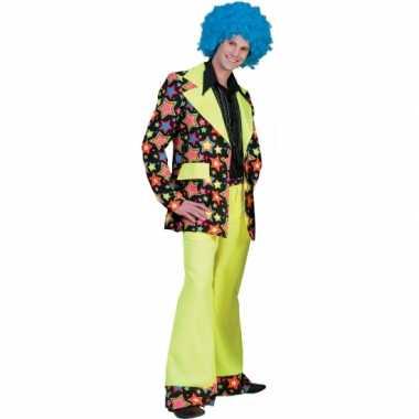Jaren 70 carnavalskleding met felle kleuren voor heren
