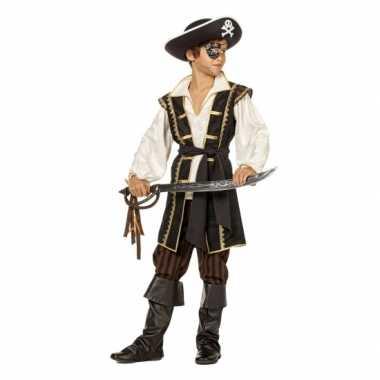 Jongens piraten carnavalskleding bruin