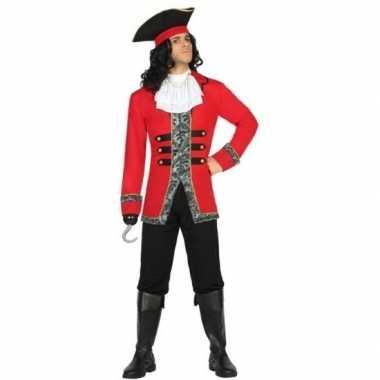 Kapitein piraat james pak/carnavalskleding voor heren