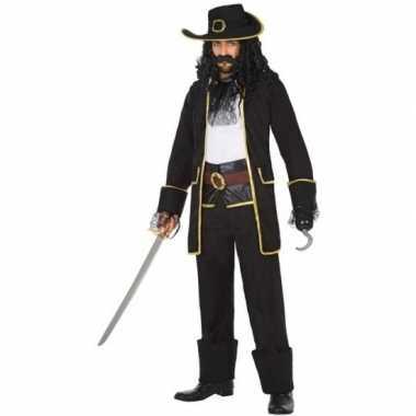 Kapitein piraat thomas pak/carnavalskleding voor heren