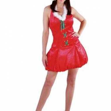 Kerst carnavalskleding met muts voor dames