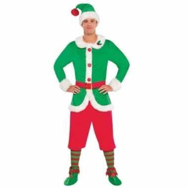 Kerstelf carnavalskleding voor heren