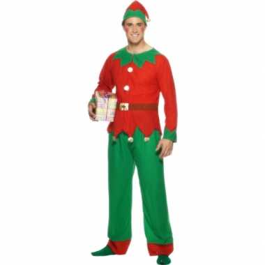Kerstelf carnavalskleding voor mannen