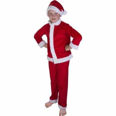 Kerstman carnavalskleding met muts voor kinderen