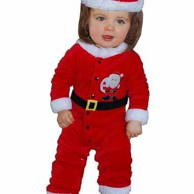 Kerstman carnavalskleding voor babies