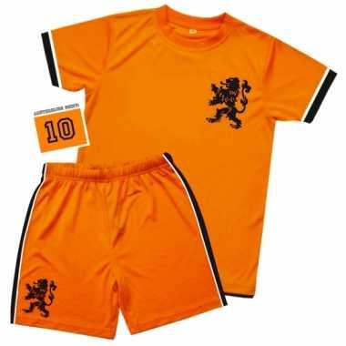 Kids oranje voetbal carnavalskleding
