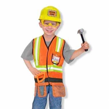 Kinder carnavalskleding bouwvakker
