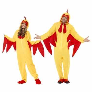 Kip carnavalskleding voor volwassenen