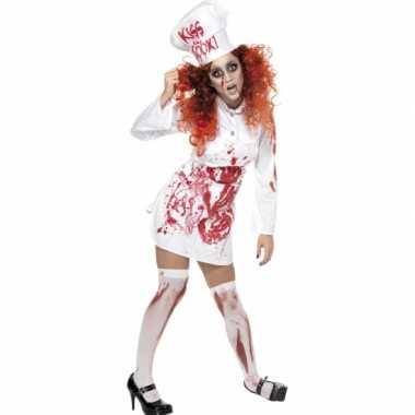 Koks carnavalskleding met bloed