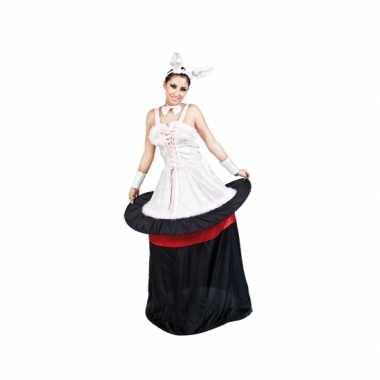 Konijn in hoed dames carnavalskleding