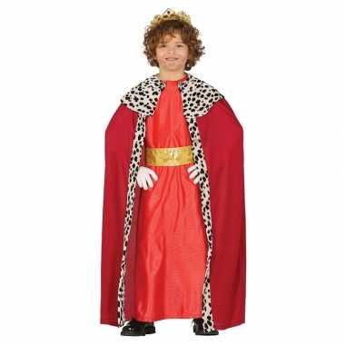 Koning mantel rood carnavalskleding voor kinderen