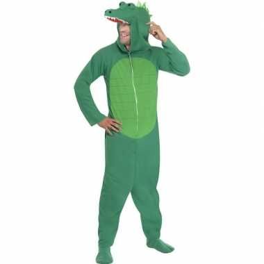 Krokodil onesie carnavalskleding voor volwassenen