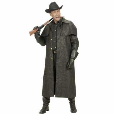 Lange heren jas voor cowboys carnavalskleding