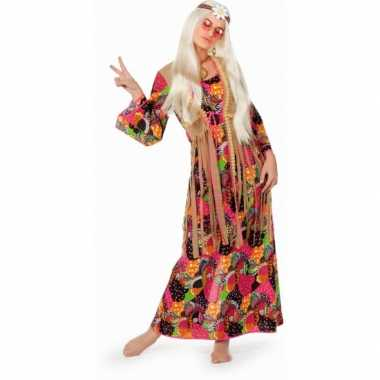 Lange sixties hippie jaren 60 carnavalskleding jurk voor dames