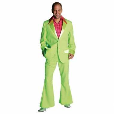 Lime groen jaren 70 carnavalskleding heren