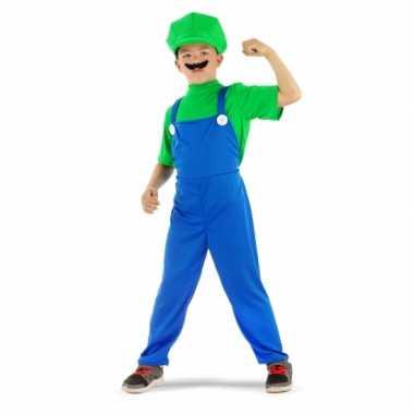 Loodgieter carnavalskleding groen voor jongens