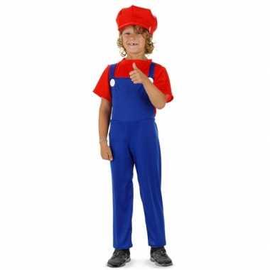 Loodgieter carnavalskleding rood voor jongens