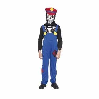 Loodgieter skelet carnavalskleding voor kinderen
