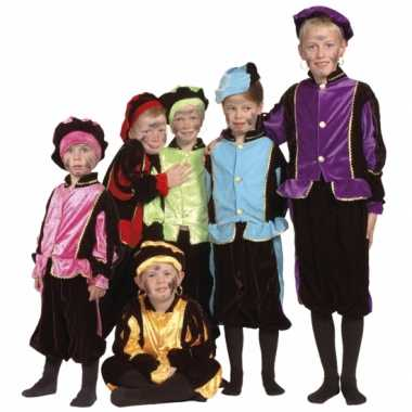 Luxe blauwe pieten carnavalskleding voor kinderen
