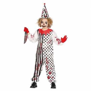 Luxe carnavalskleding horror pierrot voor kids