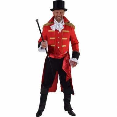 Luxe circus directeur carnavalskleding rood voor heren