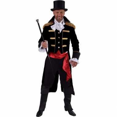 Luxe circus directeur carnavalskleding zwart voor heren