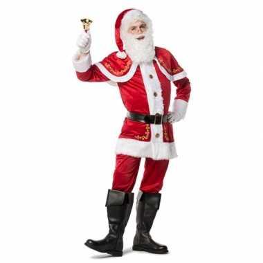 Luxe kerstman carnavalskleding voor heren