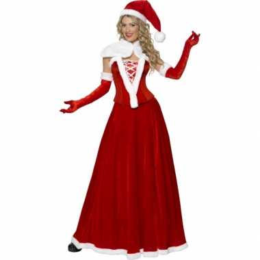 Luxe kerstvrouw carnavalskleding