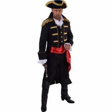 Luxe piraat carnavalskleding zwart voor heren