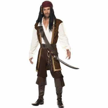 Luxe piraten carnavalskleding voor heren