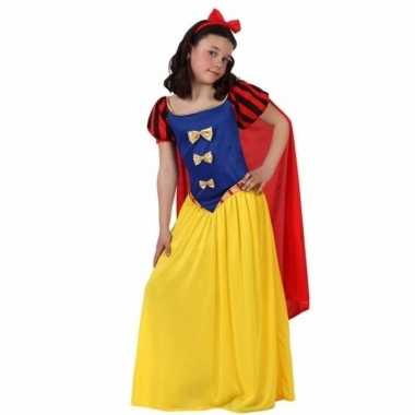 Luxe sprookjesprinses carnavalskleding met cape