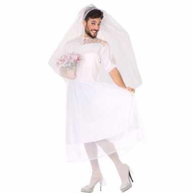 Man bruid fun carnavalskleding voor heren