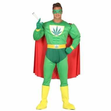 Marihuana man superheld carnavalskleding voor heren