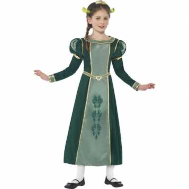 Meisjes groene prinses fiona shrek carnavalskleding