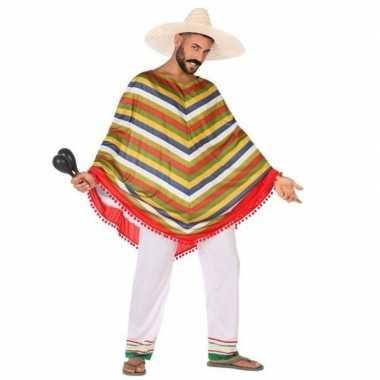 Mexicaans carnavalskleding/poncho voor heren