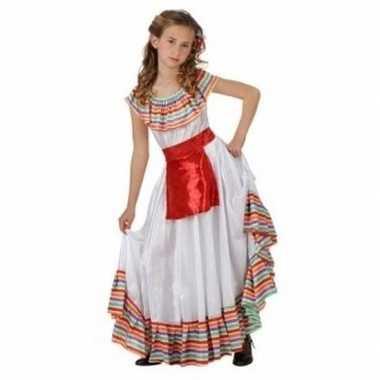 Mexicaans meisje carnavalskleding met rood schortje