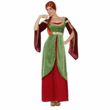Middeleeuwse jonkvrouw/prinses carnavalskleding voor dames